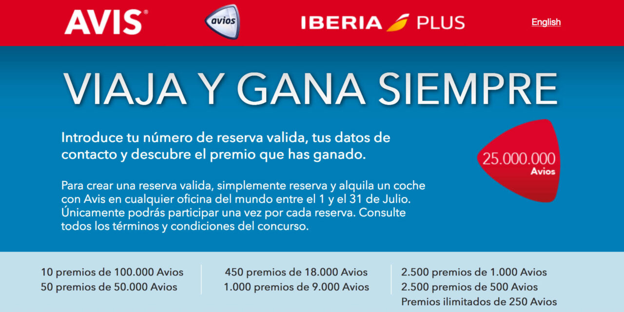 25 millones de Avios de Iberia Plus y Avis