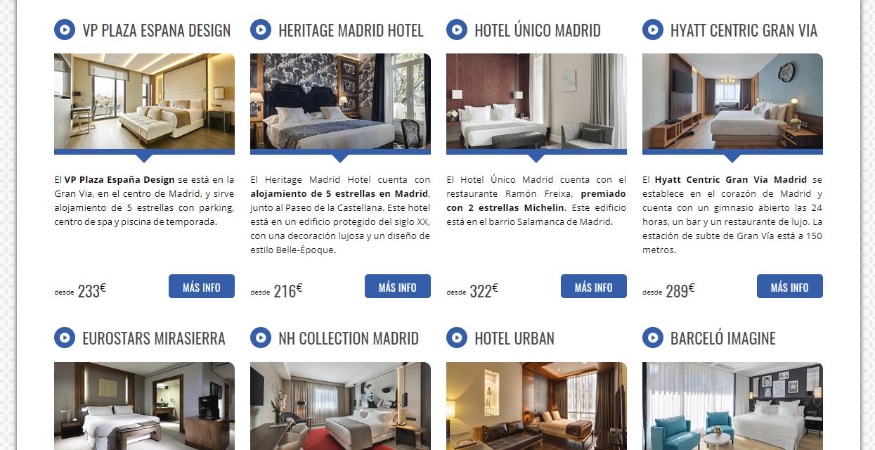 Comparador de ofertas de hoteles de 5 estrellas