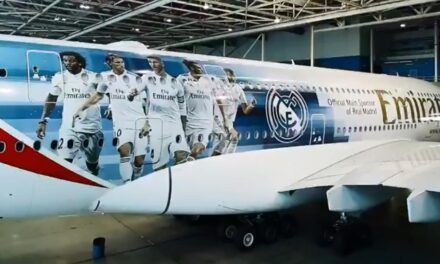 Emirates y Real Madrid con su A380