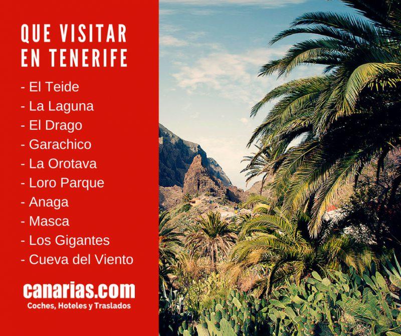 Los mejores lugares para visitar en Tenerife