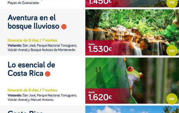 Oferta de viajes a Costa Rica