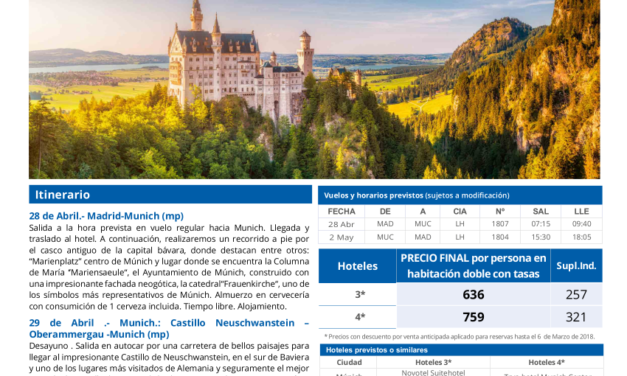 Puente de mayo: Los encantos de Baviera