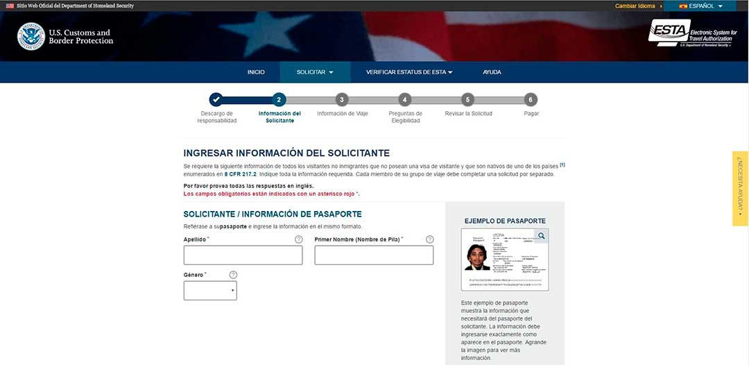 Tramita el visado ESTA para viajes a Estados Unidos